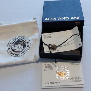 NWT Alex and Ani Carry Light American 925 Bracelet